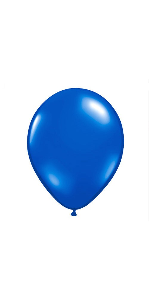 "11"" Blue Helium Plain Latex Balloon"