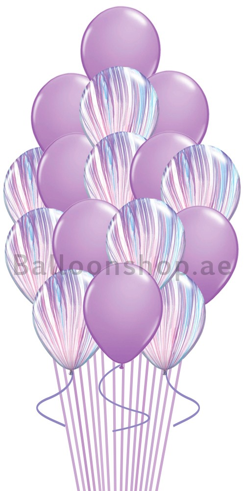lavender Fashion Agate Balloon Bouquet