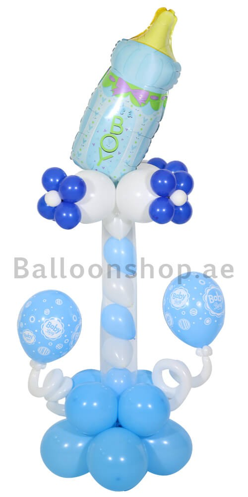 Precious Baby Boy New Born Balloon Column