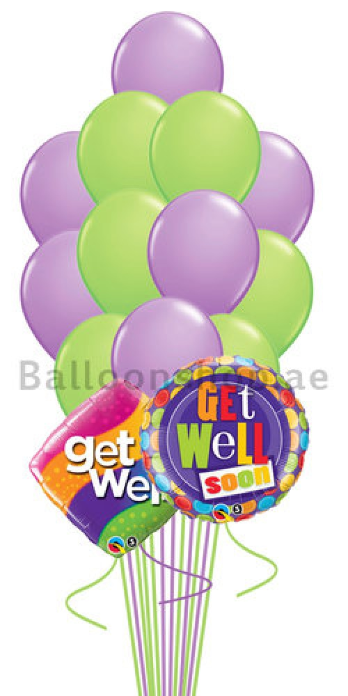 14 Balloons Feel Better Soon Helium Balloon Bouquet