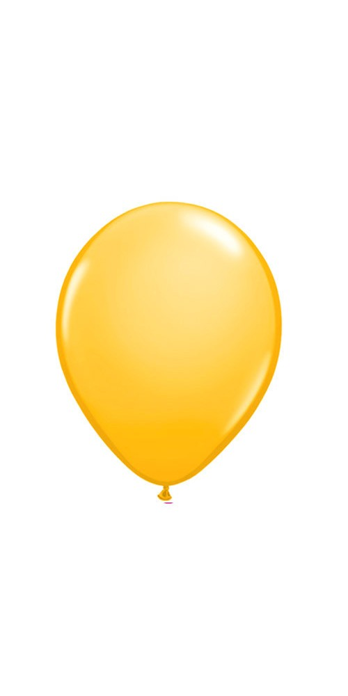 "11"" Goldenrod Yellow Helium Plain Latex Balloon"