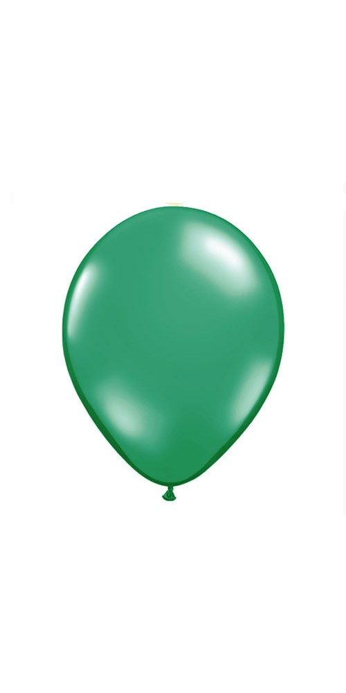 "11"" Green Helium Plain Latex Balloon"