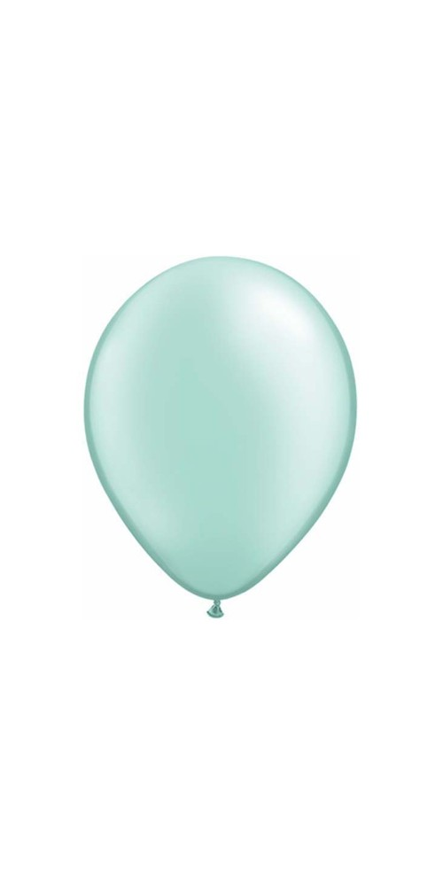 "11"" Pearl Mint Green Plain Helium Latex Balloons"