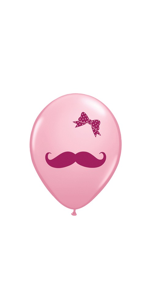 "11"" Pink Bow Helium Balloons"