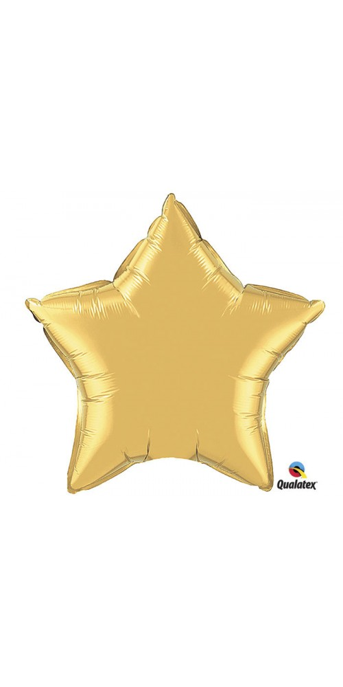 "36"" Metallic Gold Star Shape Helium Foil Balloon"