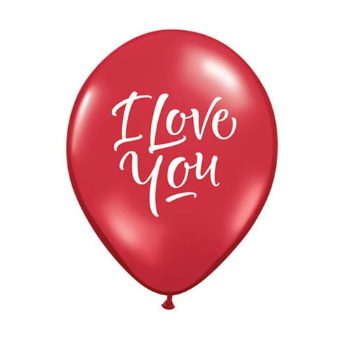 "11"" I love You Love Helium Latex  Balloons"