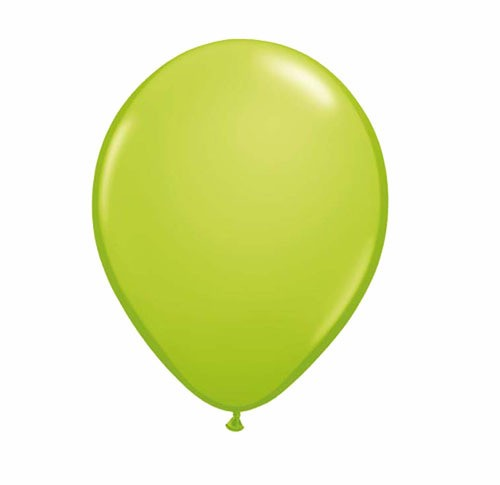 "11"" Lime Green Helium Plain Latex Balloons"