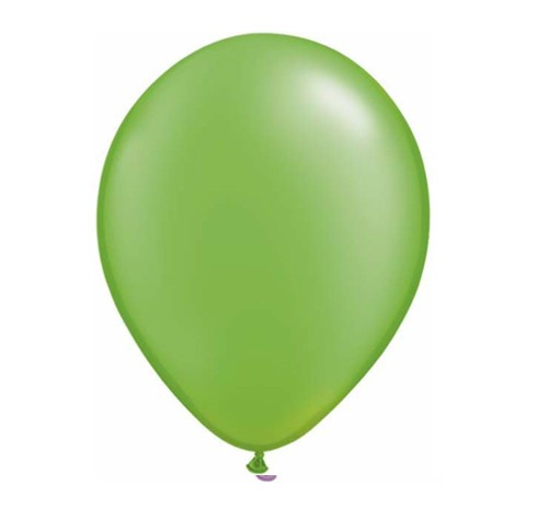 "11"" Pearl Lime Green Helium Plain Latex Balloon"