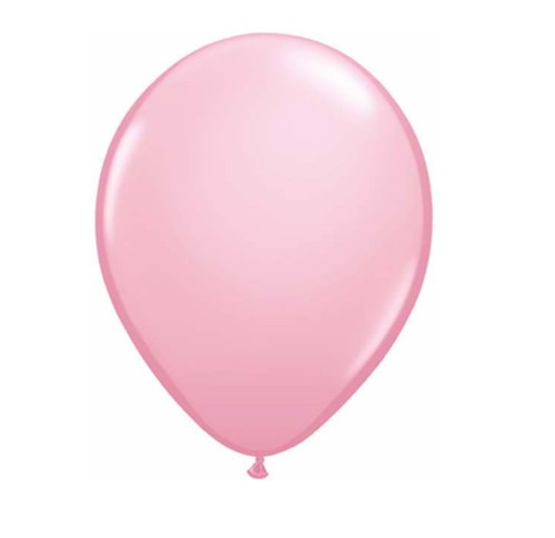 "11"" Pale Pink Helium Latex Balloons"